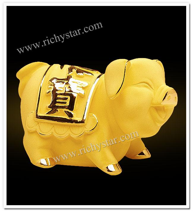 สัตว์มงคลจีน ของมงคล สินค้ามงคล ของขวัญปีใหม่2013 ของขวัญปีใหม่2556 รูปปั้นทอง ตุ๊กตาทอง หมูมงคล สัตว์มงคลจีน ของขวัญปีเกิด