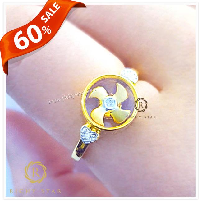 แหวนกังหันฮ่องกง แหวนกังหันล้อมเพชร แหวนกังหันวัดแชกงหมิว แหวนกังหันวัดกังหัน แหวนTSL แหวนหมุนได้ แหวนHKJ แหวนกังหัน