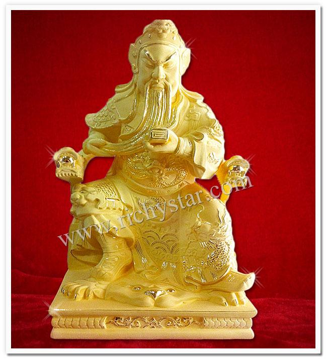 เทพเจ้ากวนอู กวนอู กวนอูปางต่างๆ กวนอูนั่งบัลลังก์ กวนอูนั่งอ่านตำรา กวนอูนั่งอ่านหนังสือ เทพเจ้าจีน