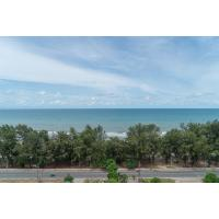 Breathtaking beach and sea view from this 12th floor condo for sale at New World on Mae Rumphueng Beach in Rayong, Thailand