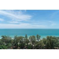 View from New Worlds Condos on Mae Rumphueng Beach in Rayong, Thailand