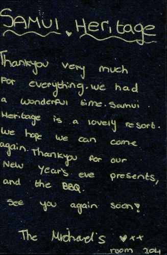 Samui Heritage Resort #Reviews #GuestBook