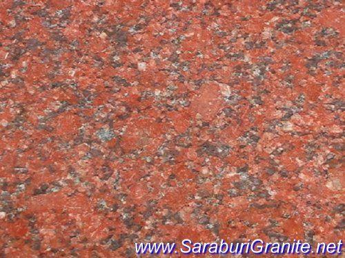 หินแกรนิต แดงอินเดียดอกใหญ่