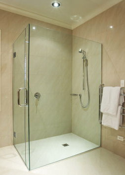 Frameless glass shower enclosure - Shower Project