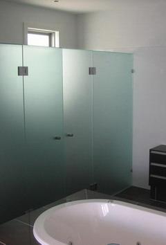 ห้องน้ำ กระจกฝ้า แบบบานเปลือย Shower Project