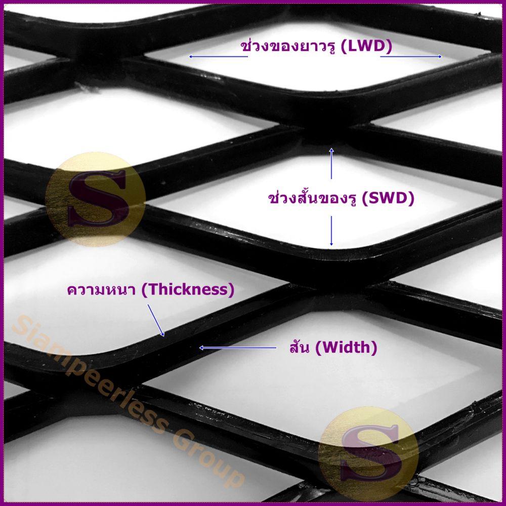 ตะแกรงเหล็กฉีกราคาถูก วิธีการวัดรูตะแกรงเหล็กฉีก เหล็กฉีกขนาดมาตราฐาน
