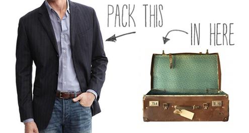 วิธีพับชุดสูทใส่กระเป๋าเดินทาง