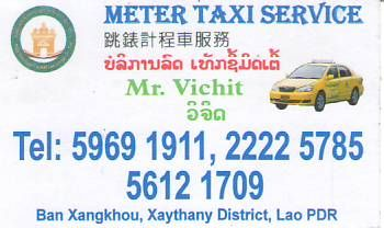 METER TAXI SERVICE-LAO PDR,Meter Taxi Service,MR. VIHIT,LAO Biz DIRECTORY,Business directory,ASEAN BUSINESS DIRECTORY,WWW.ASEANBIZDIRECTORY.COM