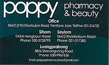 POPPY PHARMACY & BEAUTY-LAO PDR,Pharmacy & Beauty Shop,LAO Business directory