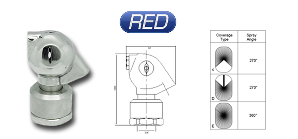 tank washing nozzle model: RED