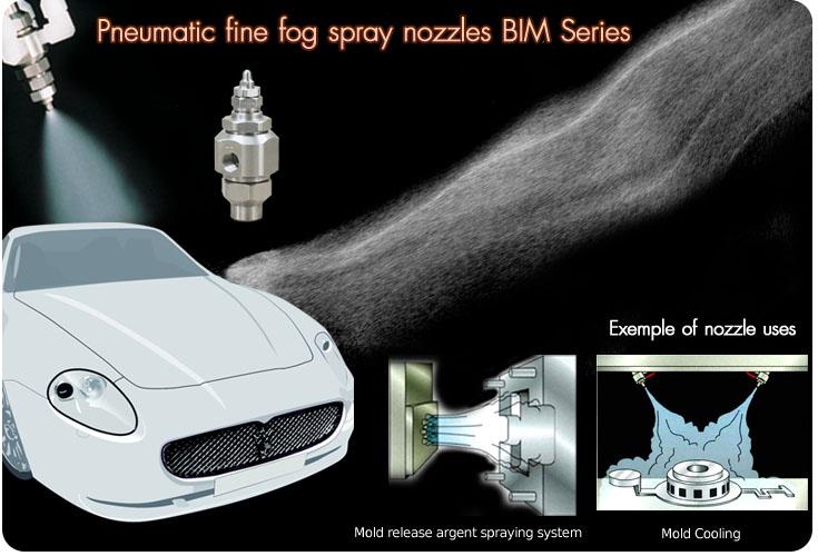 pneumatic fine mist nozzle