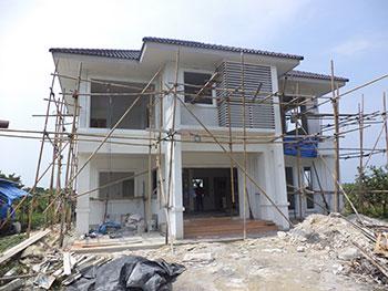 แบบบ้านสร้างจริง
