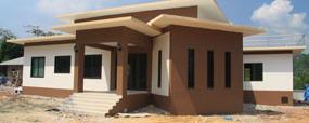 รับสร้างบ้านโมเดร์นราคาถูก