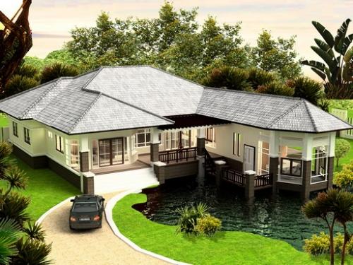 สร้างบ้านแบบบ้านชั้นเดียว
