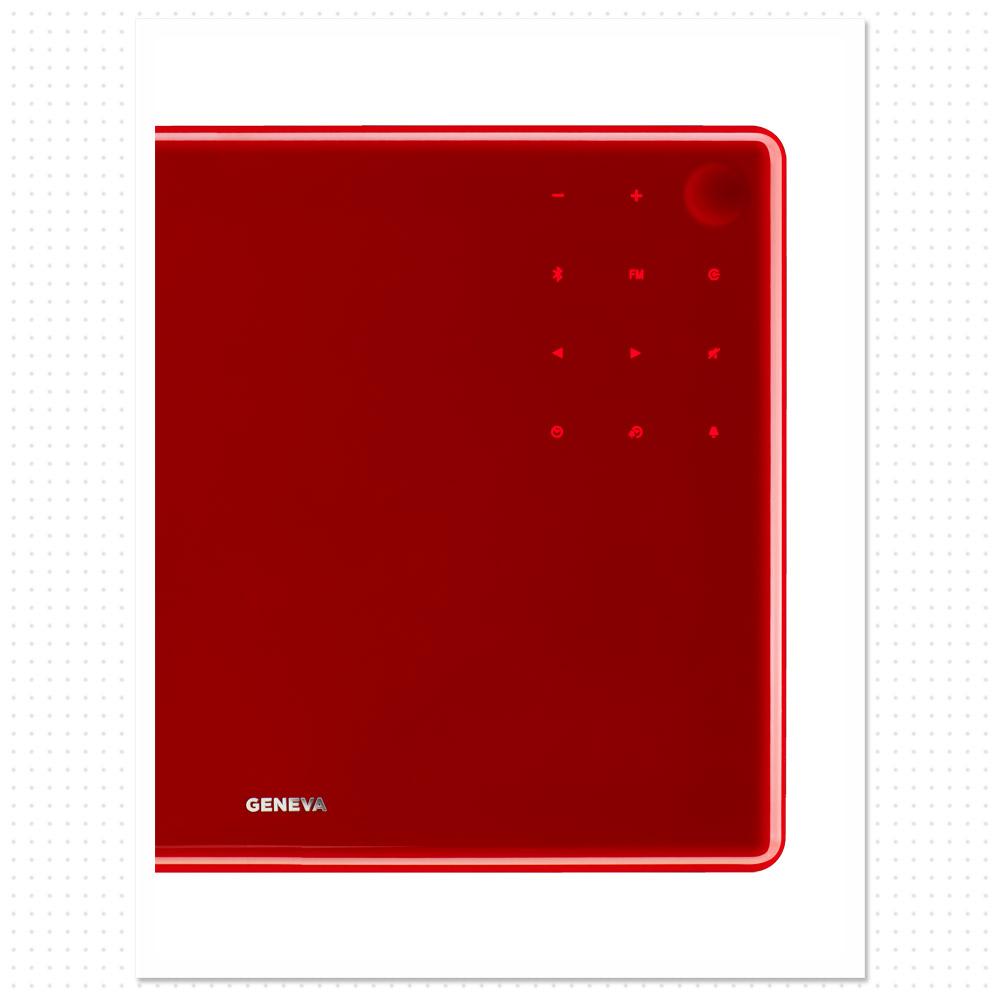 geneva lab sound system model s wireless bluetooth fm alarm clock speakers amplifier all. Black Bedroom Furniture Sets. Home Design Ideas