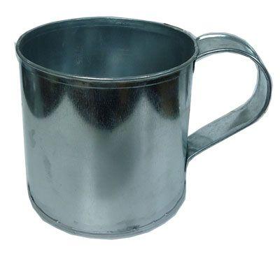 กระป๋องตักน้ำยางแบบมีหู  ขนาดเล็ก สำหรับตักน้ำยาง มาผสมกับน้ำ ก่อนใส่ในกระบอกทรงสูง