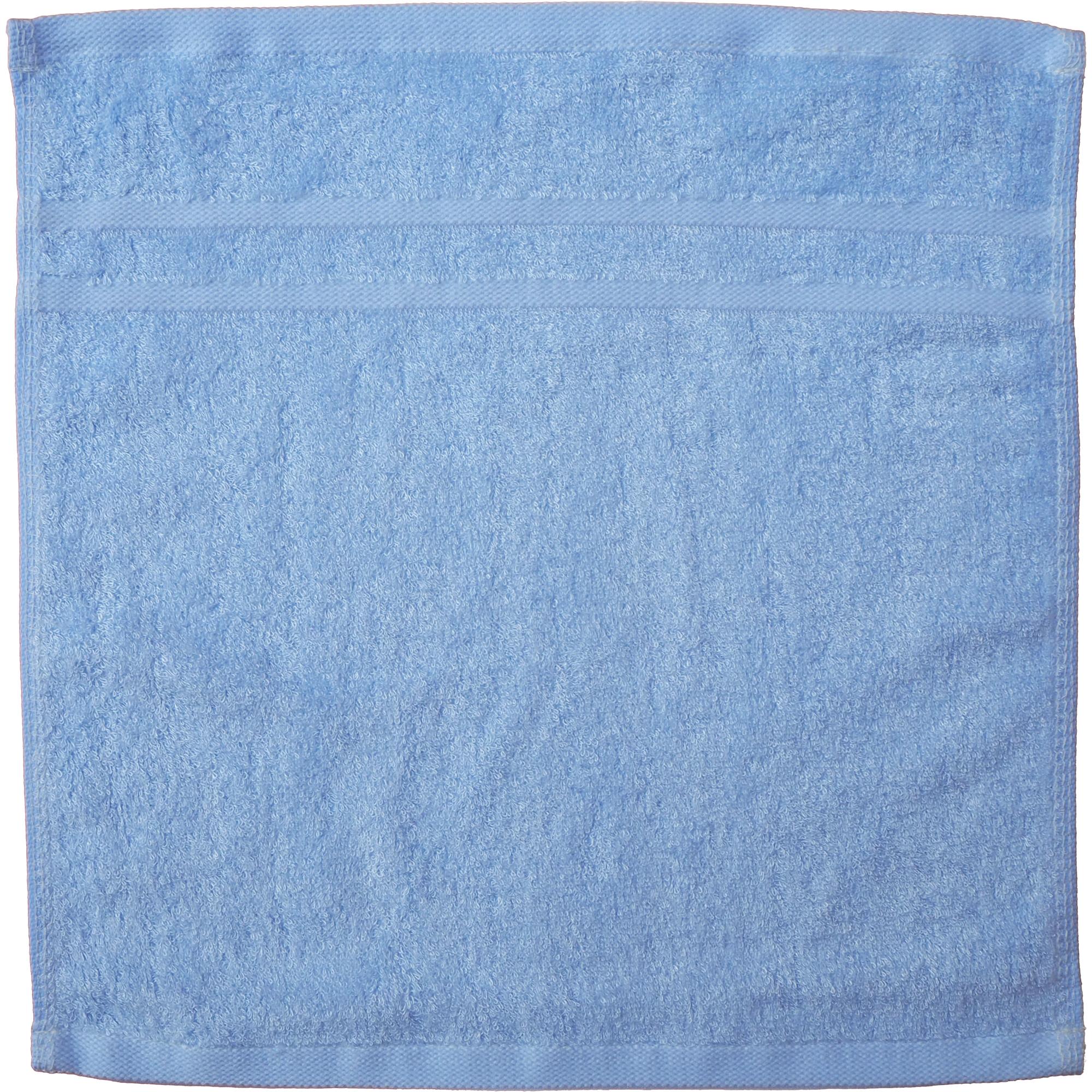 TCOTเยื่อไผ่ผ้าเช็ดหน้า33x33-สีฟ้าคราม