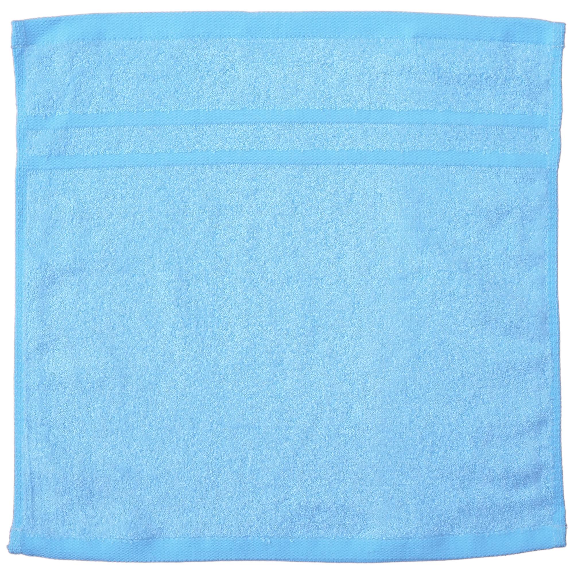 TCOTเยื่อไผ่ผ้าเช็ดหน้า33x33-สีฟ้าแก้ว