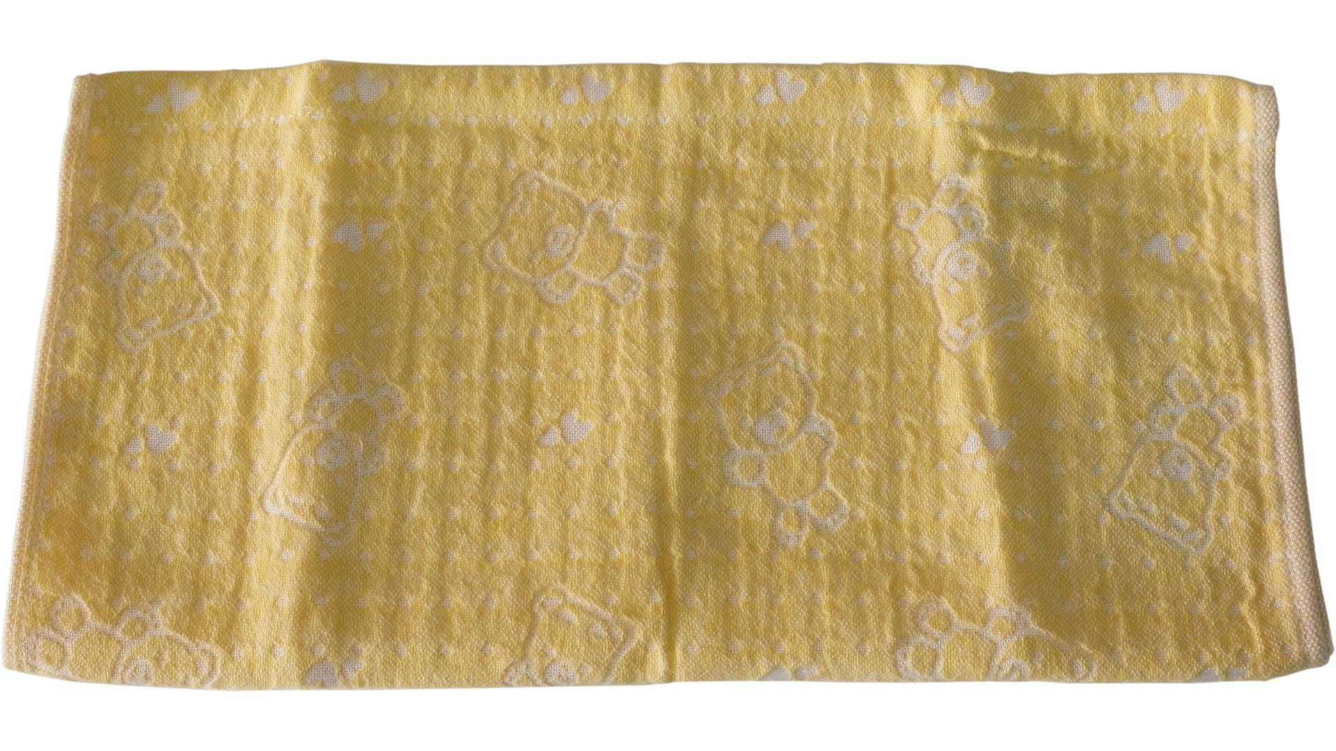 ผ้าเช็ดตัวเด็ก 34x76 ซม. สีเหลือง