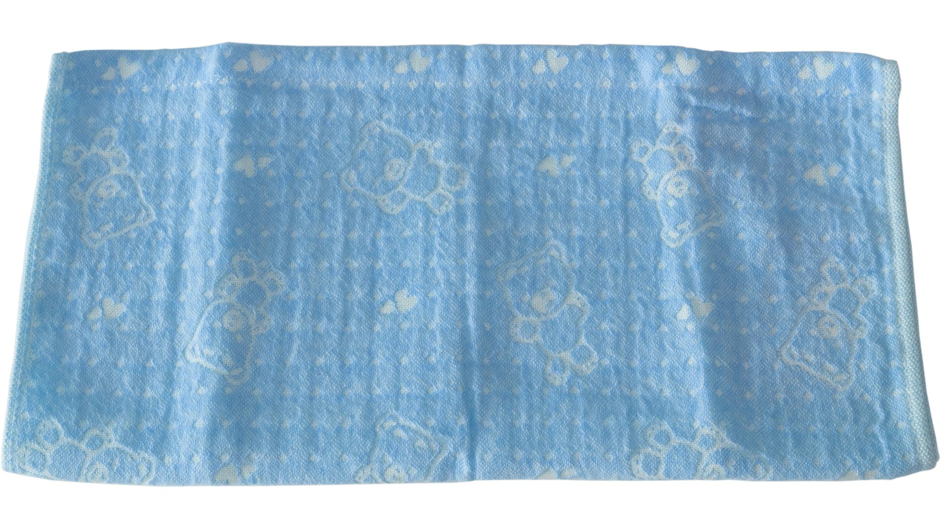 ผ้าเช็ดตัวเด็ก 34x76 ซม. สีฟ้าอ่อน