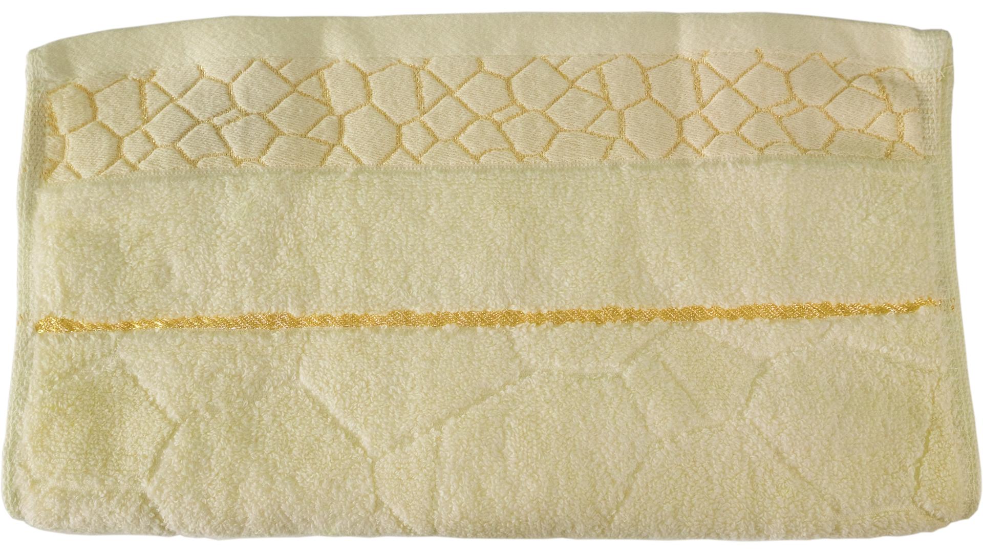 ผ้าขนหนู Cotton ลายแกรนิต ไม่ตีเกลียว 34x76 ซม. สีเหลือง