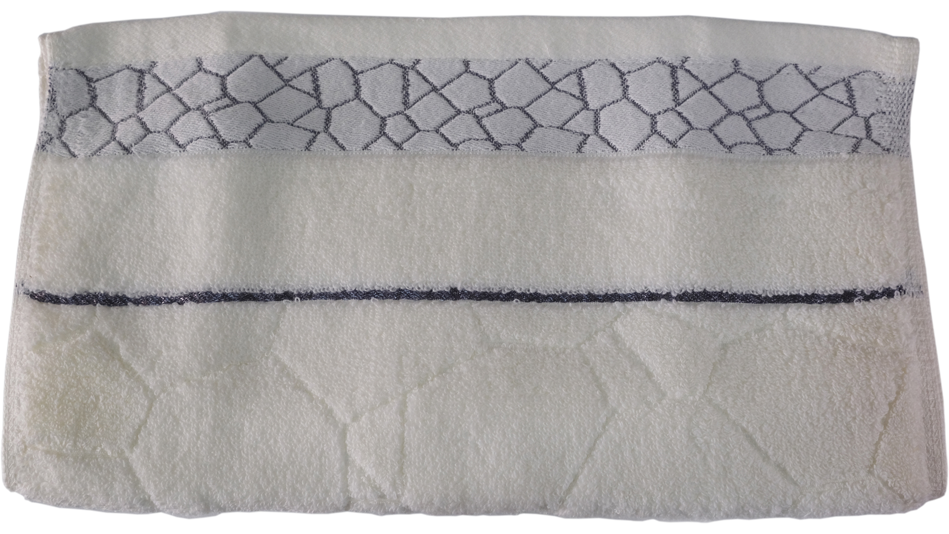ผ้าขนหนู Cotton ลายแกรนิต ไม่ตีเกลียว 34x76 ซม. สีขาว