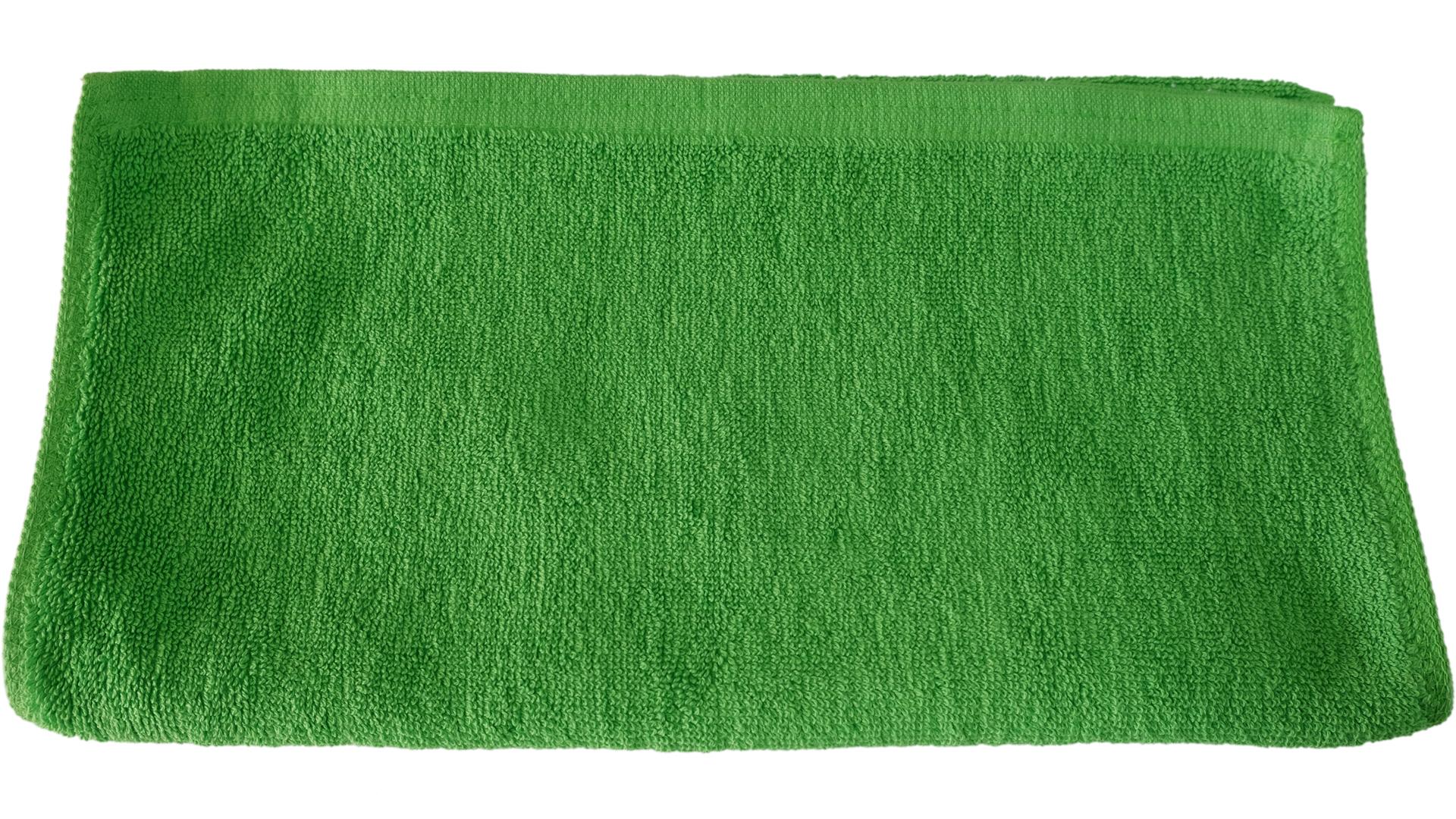 ผ้าขนหนูขนคู่แบบโรงแรม เช็ดผมเช็ดมือ 14x28นิ้ว สีเขียว
