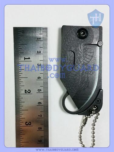 มีดพับป้องกันตัว สำหรับผู้หญิง : Dragon Mini Knife วัดกับไม้บรรทัดหน้า