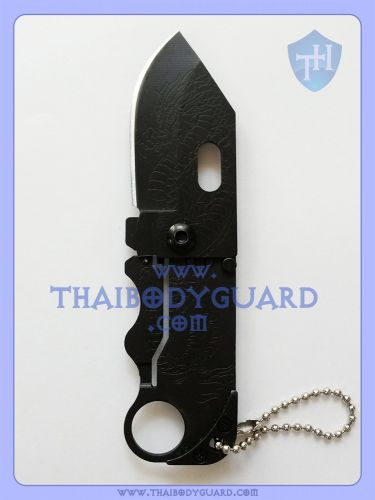 มีดพับป้องกันตัว สำหรับผู้หญิง : Dragon Mini Knife เปิดใบหน้า