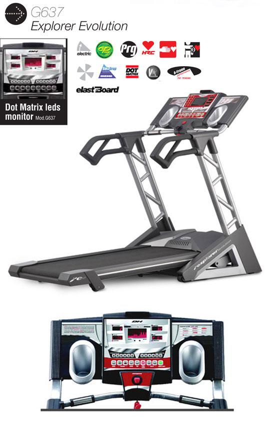 อุปกรณ์ฟิตเนส ลู่วิ่งไฟฟ้า ยี่ห้อ BH Fitness รุ่น BH-G637