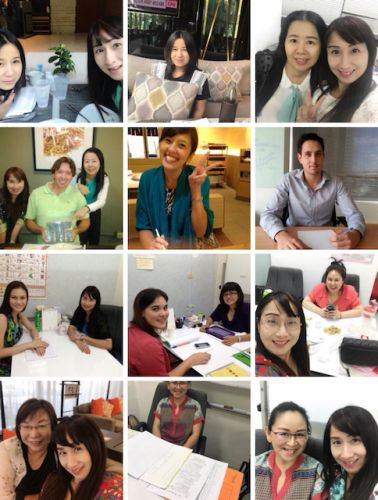 Friendly Thai teachers at Thai Smile Languages in Thailand