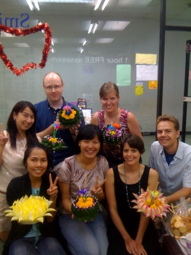 School Loy krathong Festival at Smile Languages