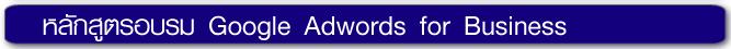 หลักสูตรอบรม Google Adwords for Business