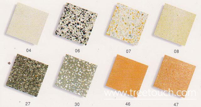 สีของหินขัด แบบหินขัด