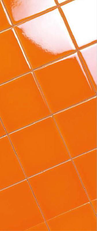 กระเบื้อง Subway สีส้ม