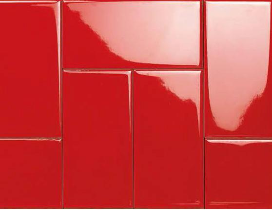 กระเบื้อง Subway สีแดง