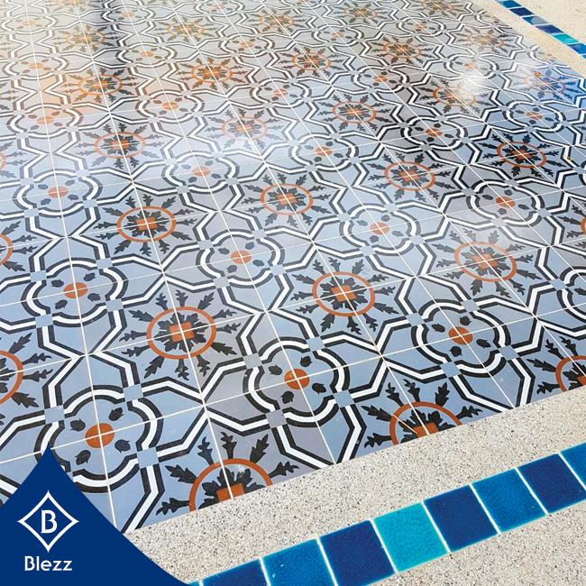 Antique Tiles Swimming Pool Tiles กระเบื้องลายโบราณ กระเบื้องสระว่ายน้ำ