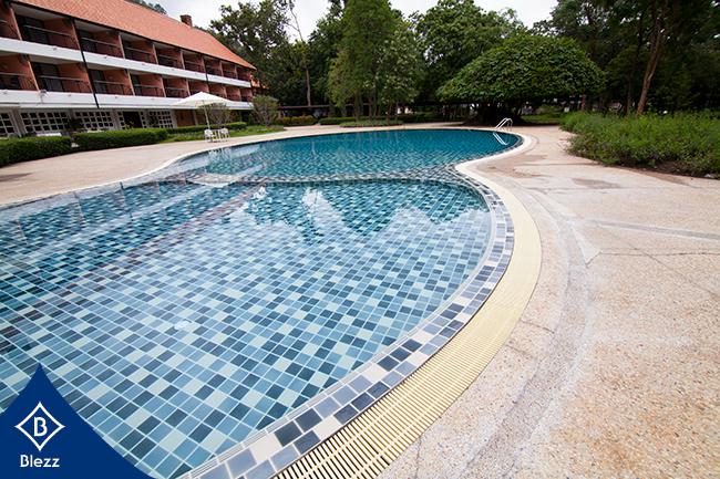 กระเบื้องสระว่ายน้ำ pool tiles เขาใหญ่