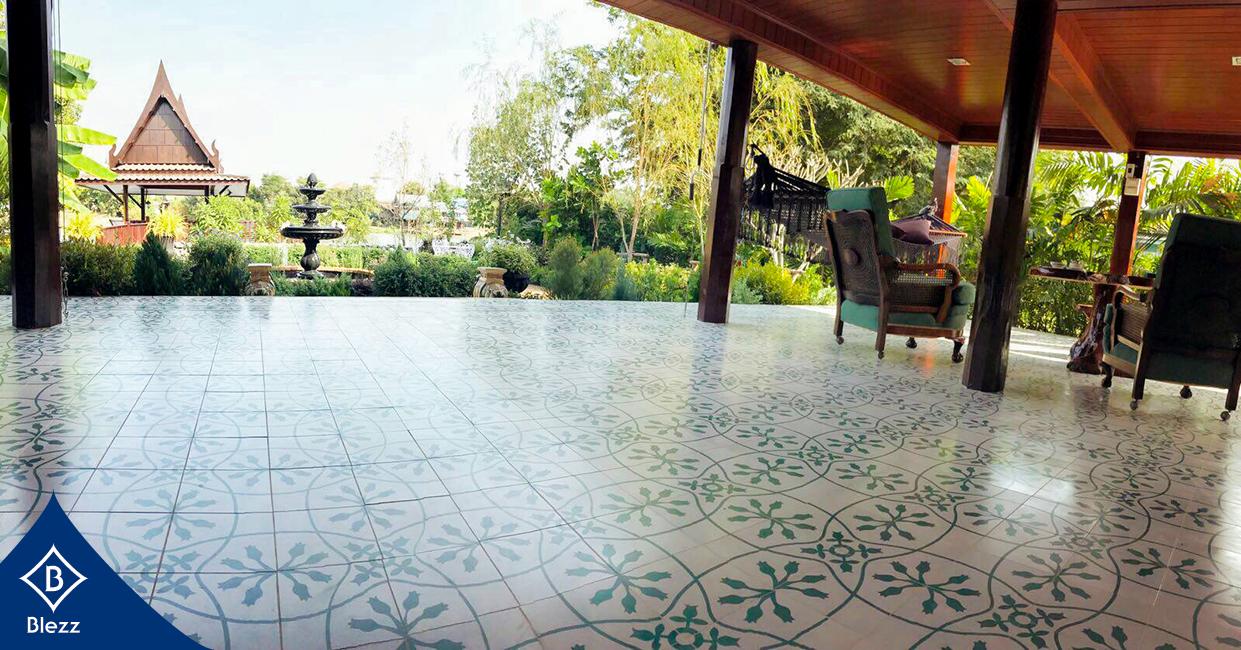 กระเบื้องลายโบราณ Antique tiles ปูพื้น
