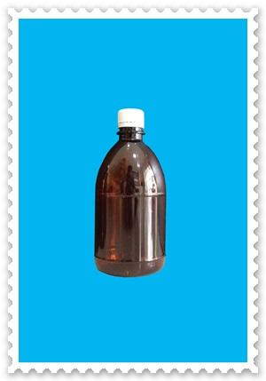 ขวดพลาสติกสีชา ขนาด 500 ml