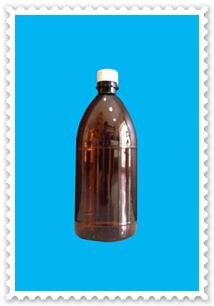 ขวดพลาสติกสีชา ขนาด 1,000 ml แบบเรียบ