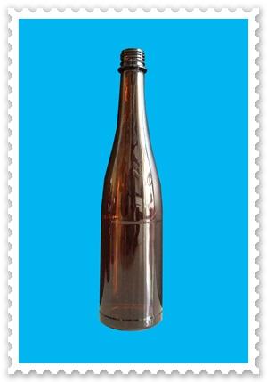 ขวดพลาสติกสีชา ขนาด 7300 ml ทรงไวน์