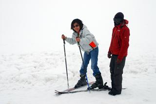 เล่นหิมะที่กุลมาร์ค
