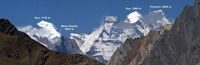 Nun 7,135 เมตร และ Kun 7,086 เมตร