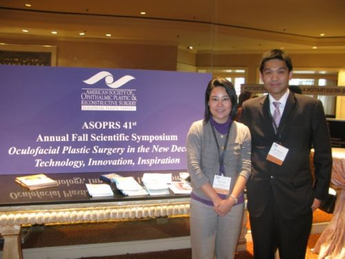 With Dr. Kanjana at the 2010 ASOPRS meeting