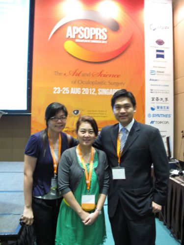 Dr. Nattawut Wanumkarng 's Presentation: Optimizing The Success for Revision Endoscopic Dacryocystorhinostomy (DCR) on August 25, 2012  Singapore  นพ. ณัฐวุฒิ วะน้ำค้าง