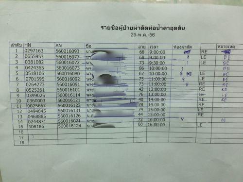 Dr. Nattawut Wanumkarng ออกหน่วย ผ่าตัด ท่อน้ำตาอุดตัน