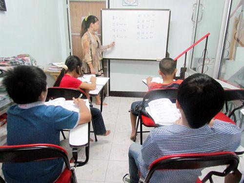 บรรยากาศในห้องเรียน ศูนย์สอนภาษาจีนซินหัว