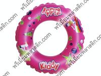 ห่วงยางว่ายน้ำพลาสติกเป่าลมสีชมพู