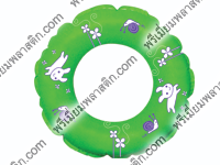 พลาสติกเป่าลมสีเขียวห่วงยางเล่นน้ำ